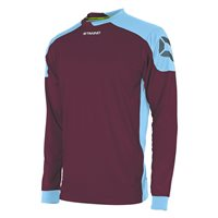 Stanno Campione Long Sleeve Jersey - Maroon/Sky Blue