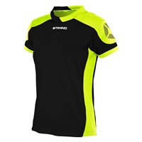 Stanno Campione Short Sleeve Jersey Womens - Black/Neon Yellow