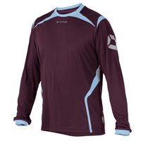 Stanno Torino Long Sleeve Jersery - Maroon/Sky Blue