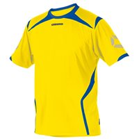 Stanno Torino Short Sleeve Jersery - Yellow/Royal