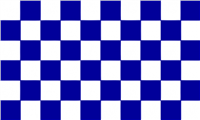 Naomh Conaill  checkered flag 5*3 Royal / White