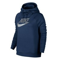 Nike Womens Rally Pullover Fleece Hoodie -  Navy/Silver