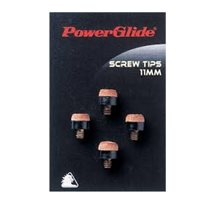PowerGlide 4 x Cue Screw on Tips - Brown