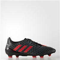 Adidas Predator Malice FG Football Boot - Black/Grey/Red