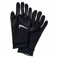 Nike Mens Storm-Fit Hybrid Run Gloves -  Black/Silver