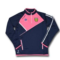 ONeills Ladies Donegal Half Zip Squad Top - Navy/Flor. Pink/White