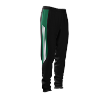 Adidas Mi Team 14 Skinny Training Pant - Adult - Black/Green/White