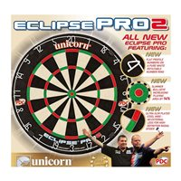 Unicorn UPL Eclipse Pro2 Bristle Dart Board - Black/White/Red/Green