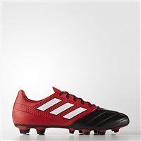 Adidas Ace 17.4 FXG J Kids Football Boots - Black/Red