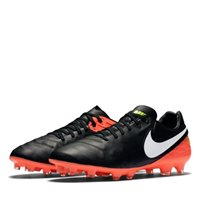 Nike Tiempo Legacy II FG Football Boots -  Black/Orange/Volt/White