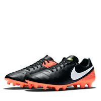 Nike Tiempo Mystic V Firm Ground Football Boots -  Black/Orange/Volt/White