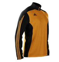 Adidas Mi Team 14 Training Top - Adult - Gold/Black/Gold