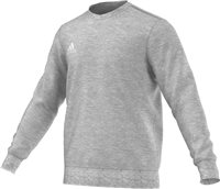 Adidas Core Sweat Top Youth - Medium Grey Heather/White