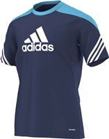 Adidas Sereno 14 Training Jersey - New Navy/Super Cyan /White