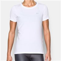 Under Armour Womens Heat Gear Short Sleeve Top -  White