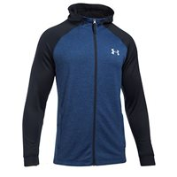 Under Armour Mens Tech Terry Fitted Full Zip Hoodie -  Blue