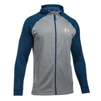 Under Armour Mens Tech Terry Fitted Full Zip Hoodie -  Grey