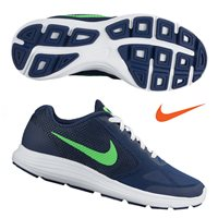 Nike Revolution 3 Grade School GS -  Navy/Green