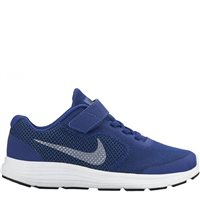 Nike Revolution 3 PSV (Pre School Velcro) -  Royal/Cool Grey