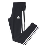 Adidas Girls 3 Stripe Tights - Black/White