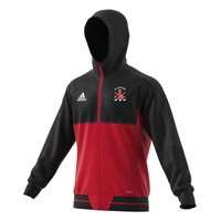 Raphoe Hockey Tiro 17 Presentation Jacket - Black/Scarlet/White
