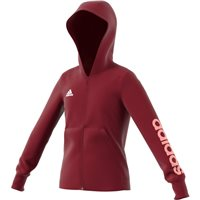 Adidas Girls Linear Full Zip Hoodie - Burgundy