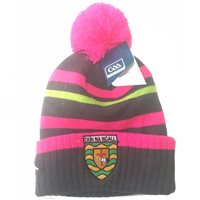 Introsports Donegal GAA Bobble Hat - Grey/Pink/Neon Green