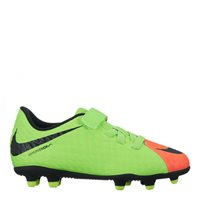 Nike Jr Hypervenom Phade III (V) FG Football Boo -  Green/Black/Orange