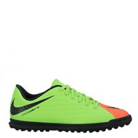 Nike Jr HypervenomX Phade III Turf Football Boot -  Green/Black/Orange