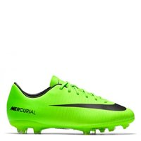 Nike JR Mercurial Victory VI FG Football Boots -  Volt/Black