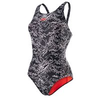 Speedo Boom Allover MuscleBack - Black/White