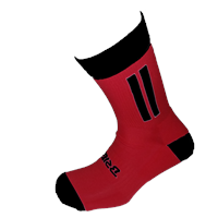 Briga Midi Football Sock - Red/Black