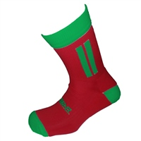 Briga Midi Football Sock - Red/Green