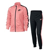 Nike Girls NSW Tricot Tracksuit -  Pink/Black