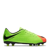 Nike Kids Hypervenom Phade III FG -  Green/Black/Orange