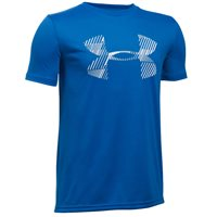Under Armour Boys Combo Logo T-Shirt -  Royal/Grey/White