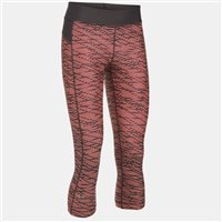 Under Armour Womens HG Armour Printed Capri -  Black/Peach