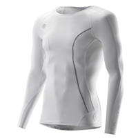 Skins DNAmic Mens Long Sleeve Top - White