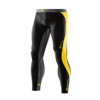Skins Mens DNAmic Long Tights - Black/Yellow