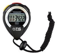 TIS Pro 025 Water Resistant Stopwatch - Black
