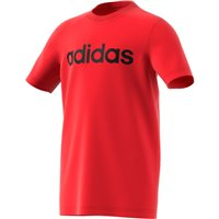 Adidas Boys Linear T-Shirt - Red/Black