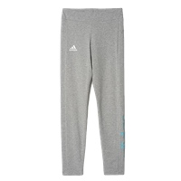 Adidas Girls YG Linear Tights - Grey/Cyan