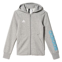 Adidas Girls Linear Full Zip Hoodie - Grey