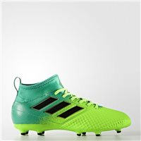 Adidas Kids Ace 17.3 Firm Ground Football Boots - Green/Volt
