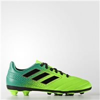 Adidas Kids Ace 17.4 FXG J Football Boots - Green/Volt