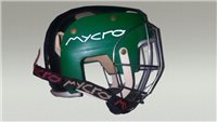 Mycro Two Tone Hurling Helmet - Green/Black