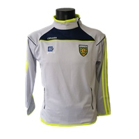 ONeills Donegal Aston Side Zip Squad Top - Silver/Marine/Flo.Yel