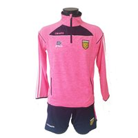 ONeills Ladies Donegal Aston Half Zip Squad Top - Flo.Pink/Marine/White