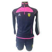 ONeills Ladies Donegal Aston Half Zip Squad Top - Marine/Flo.Pink/White