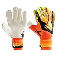 Precision Heat On Goalkeeper Gloves - Orange/Yellow/Black